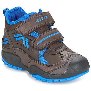 Topánky Chlapci Nízke tenisky Geox J N.SAVAGE B.B Hnedá / Modrá