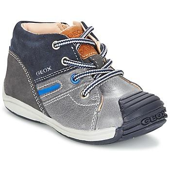 Topánky Chlapci Členkové tenisky Geox B TOLEDO B. A šedá / Námornícka modrá