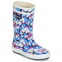 Topánky Dievčatá Čižmy do dažďa Aigle LOLLY POP GLITTERY Modrá