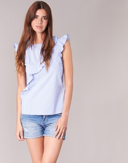 Oblečenie Ženy Blúzky Morgan MARFIZ Modrá / Biela