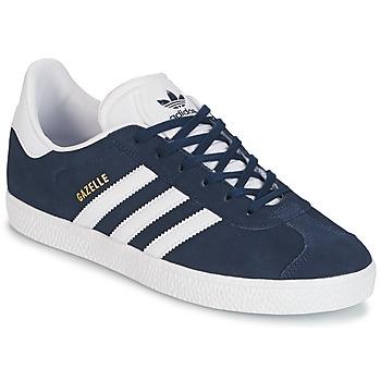 Topánky Chlapci Nízke tenisky adidas Originals GAZELLE J Námornícka modrá