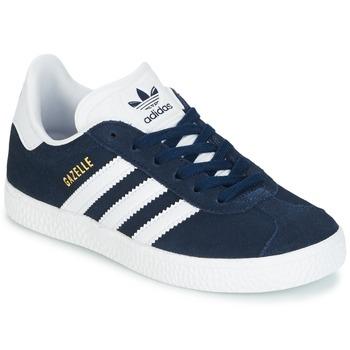 Topánky Chlapci Nízke tenisky adidas Originals Gazelle C Námornícka modrá