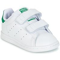 Topánky Deti Nízke tenisky adidas Originals STAN SMITH CF I Biela / Zelená