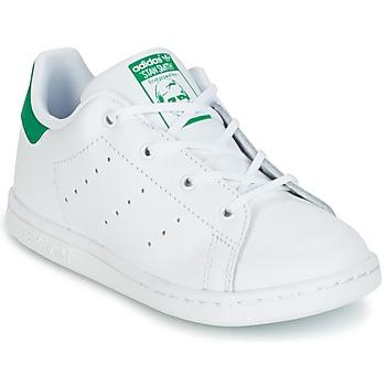 Topánky Deti Nízke tenisky adidas Originals STAN SMITH I Biela / Zelená