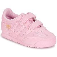 Topánky Dievčatá Nízke tenisky adidas Originals DRAGON OG CF C Ružová