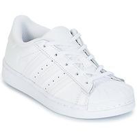 Topánky Deti Nízke tenisky adidas Originals SUPERTSAR Biela