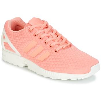 Topánky Ženy Nízke tenisky adidas Originals ZX FLUX W Ružová / Biela
