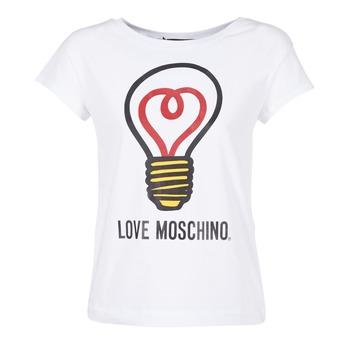 Oblečenie Ženy Tričká s krátkym rukávom Love Moschino W4F3038E1512 Biela