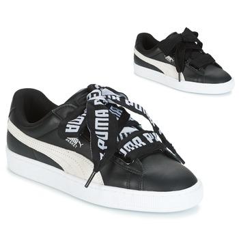 Topánky Ženy Nízke tenisky Puma Basket Heart DE čierna / Biela
