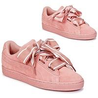 Topánky Ženy Nízke tenisky Puma Basket Heart Satin Ružová