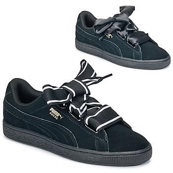 Topánky Ženy Nízke tenisky Puma Basket Heart Satin Čierna