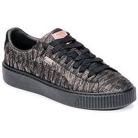 Topánky Ženy Nízke tenisky Puma Basket Platform Bi Color Čierna / Ružová