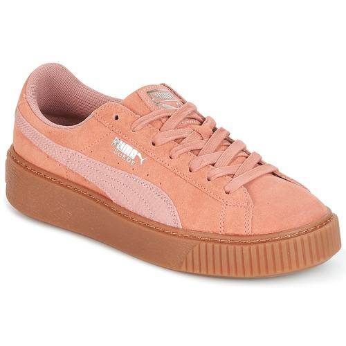 Topánky Ženy Nízke tenisky Puma Suede Platform Core Gum Ružová
