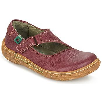 Topánky Dievčatá Polokozačky El Naturalista NIDO Bordová