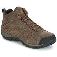 Topánky Muži Turistická obuv Columbia REDMOND MID LEATHER OMNI-TECH Hnedošedá