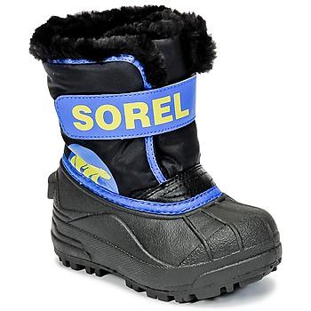 Topánky Deti Obuv do snehu Sorel CHILDRENS SNOW COMMANDER čierna / Modrá