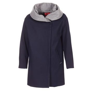 Oblečenie Ženy Kabáty S.Oliver DEMIZA Námornícka modrá / Šedá