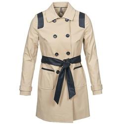 Oblečenie Ženy Kabátiky Trenchcoat Naf Naf BARTABA Béžová / Čierna
