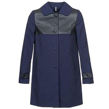 Oblečenie Ženy Kabáty Naf Naf BAUNS Námornícka modrá
