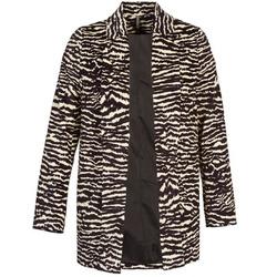 Oblečenie Ženy Kabáty Naf Naf DEBOA Čierna / Krémová
