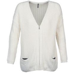 Oblečenie Ženy Cardigany Naf Naf MEDEN Krémová