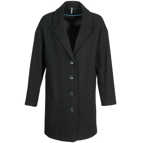 Oblečenie Ženy Kabáty Naf Naf ALEX Čierna
