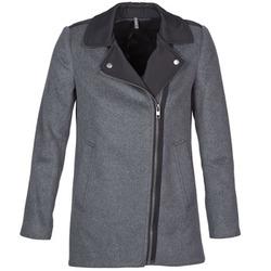 Oblečenie Ženy Kabáty Naf Naf ARNO šedá / čierna