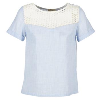 Oblečenie Ženy Blúzky Betty London GERMA Biela / Modrá