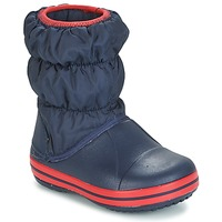 Topánky Chlapci Snehule  Crocs WINTER PUFF BOOT KIDS Námornícka modrá