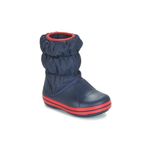 Topánky Deti Čižmy do dažďa Crocs WINTER PUFF BOOT KIDS Námornícka modrá