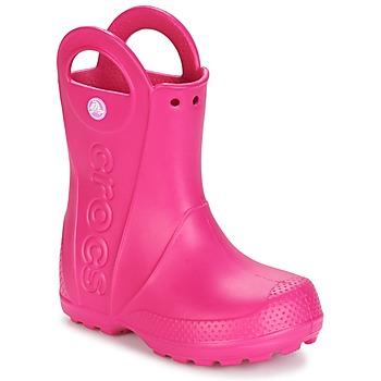 Topánky Dievčatá Čižmy do dažďa Crocs HANDLE IT RAIN BOOT Ružová