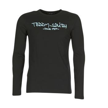 Oblečenie Muži Tričká s dlhým rukávom Teddy Smith TICLASS 3 ML Čierna