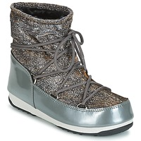 Topánky Ženy Obuv do snehu Moon Boot MOON BOOT LOW LUREX Šedá / Strieborná