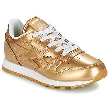 Topánky Dievčatá Nízke tenisky Reebok Classic CLASSIC LEATHER MET Zlatá