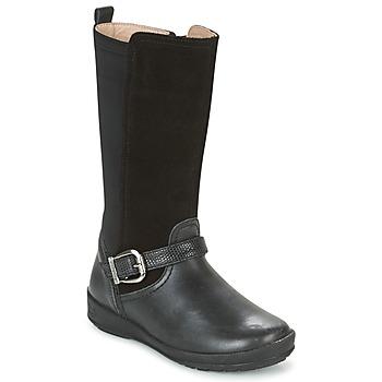 Topánky Dievčatá Čižmy do mesta Garvalin NEW FLORES Čierna