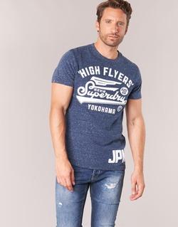 Oblečenie Muži Tričká s krátkym rukávom Superdry HIGH FLYERS REWORKED Námornícka modrá