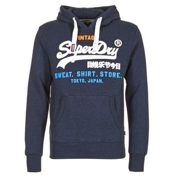 Oblečenie Muži Mikiny Superdry SHIRT STORE TRI Námornícka modrá