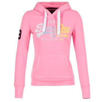 Oblečenie Ženy Mikiny Superdry VINTAGE LOGO STRIPE FADED Ružová