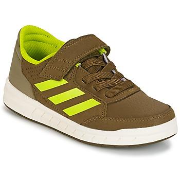 Topánky Chlapci Nízke tenisky adidas Performance ALTASPORT EL K Kaki / žltá