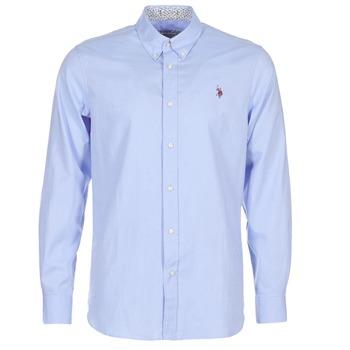 Oblečenie Muži Košele s dlhým rukávom U.S Polo Assn. CALE Modrá