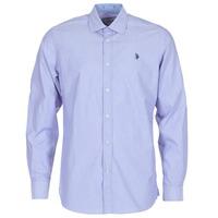 Oblečenie Muži Košele s dlhým rukávom U.S Polo Assn. RUSTY Námornícka modrá
