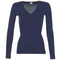 Oblečenie Ženy Tričká s dlhým rukávom Petit Bateau LEOSA Námornícka modrá
