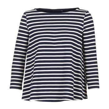 Oblečenie Ženy Blúzky Petit Bateau LAURENI Biela / Námornícka modrá