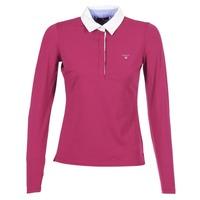 Oblečenie Ženy Polokošele s dlhým rukávom Gant SOLID JERSEY LS RUGGER Ružová