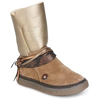 Topánky Dievčatá Čižmy do mesta Catimini ROUGEGEORGE CTS TAUPE-CUIVRE DCH/GLEN