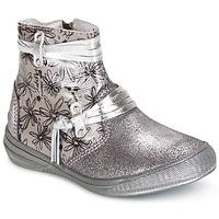 Topánky Dievčatá Polokozačky GBB REVA Strieborná