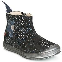 Topánky Dievčatá Polokozačky GBB ROMANE Čierna