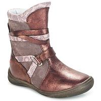 Topánky Dievčatá Polokozačky GBB ROSANA Ružová / Bordová