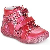 Topánky Dievčatá Polokozačky GBB ROXANE Malinová
