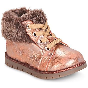 Topánky Dievčatá Polokozačky GBB RENATA Ružová